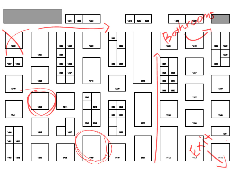 trade show exhibit booth location