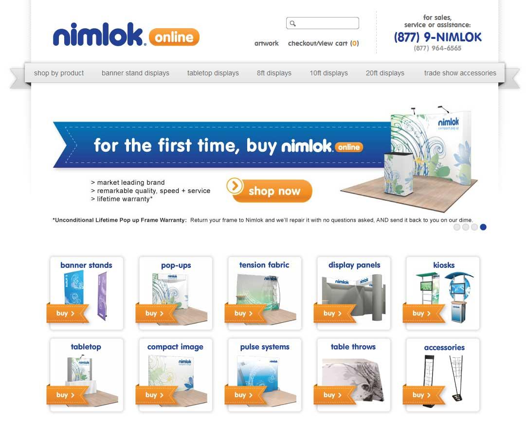 nimlok trade show displays website