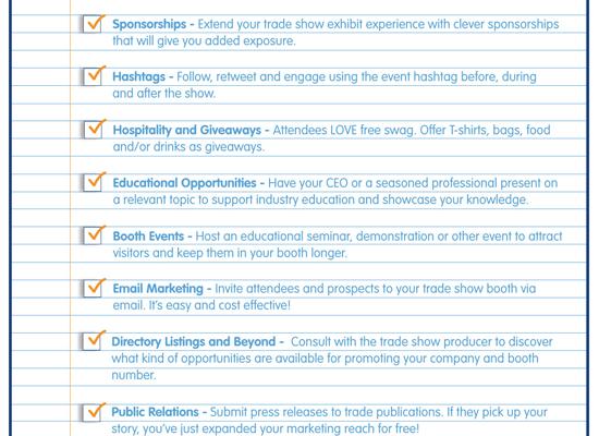 Trade Show Exhibit Marketing Checklist ✔️