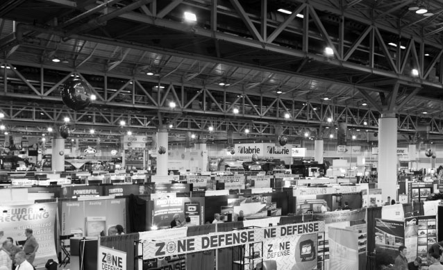 trade show displays at a trade show exhibition