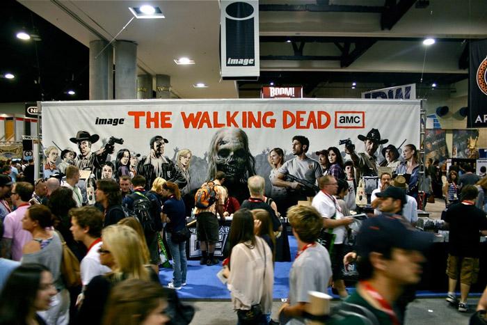 trade show walking dead zombie