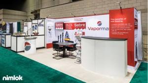 Vapormatt achieved trade show success with this 10' x 20' custom modular rental exhibit