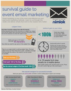 [INFOGRAPHIC] Event email marketing best practices