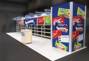 colorful trade show booth design